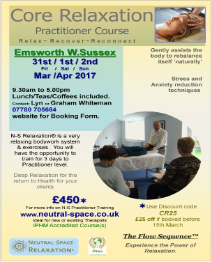 Relaxation Training Course Flyer Introduction Workshop